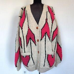 Sweaters - NWT Chunky Wool made in Ecuador Cardigan